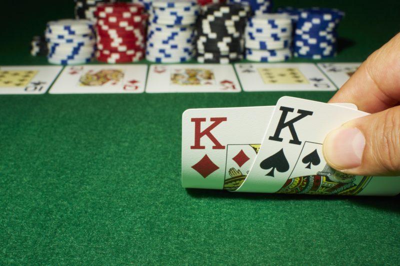 Poker, Show down, Tisch, Jeton, Zwei Könige
